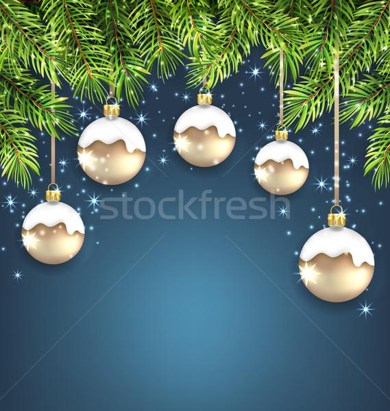 Natale vetro illustrazione vacanze Foto d'archivio © smeagorl
