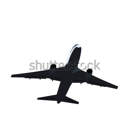 иллюстрация самолет бизнеса дизайна искусства облаке Сток-фото © smeagorl