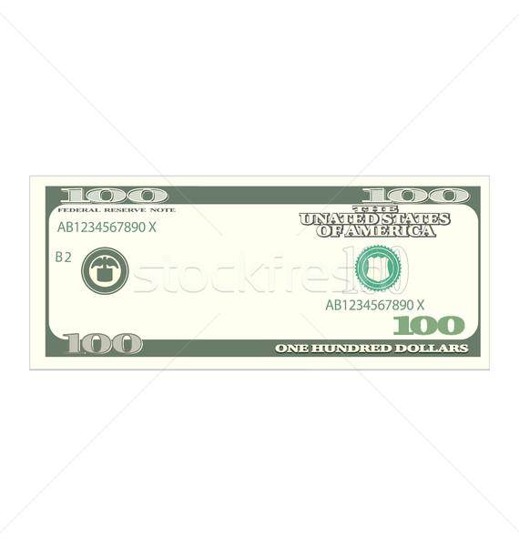 One Hundred Dollars Isolated on White Background Stock photo © smeagorl