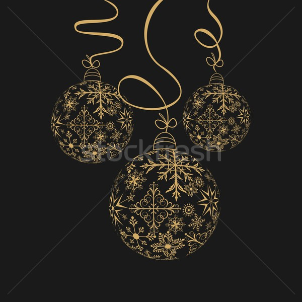 Cute christmas illustratie abstract glas Stockfoto © smeagorl