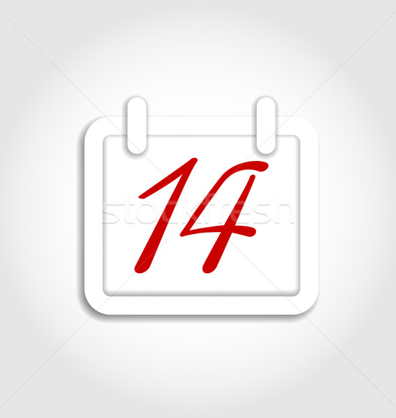 Calendar icon for Valentines day on 14th february Stock photo © smeagorl