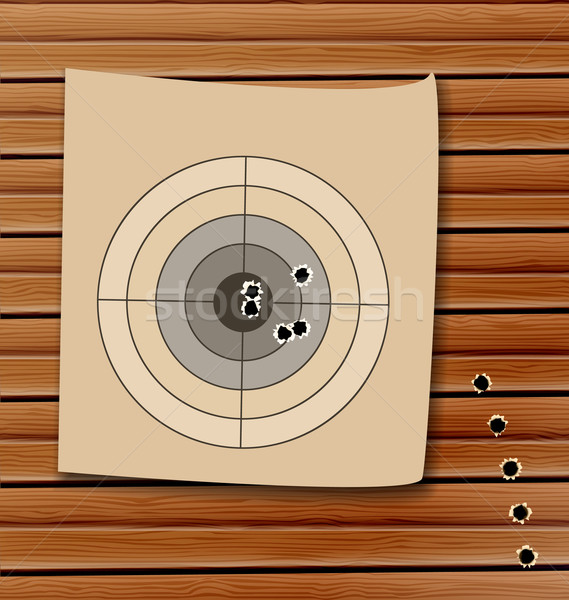 Shooting range target with bullet holes Stock photo © smeagorl