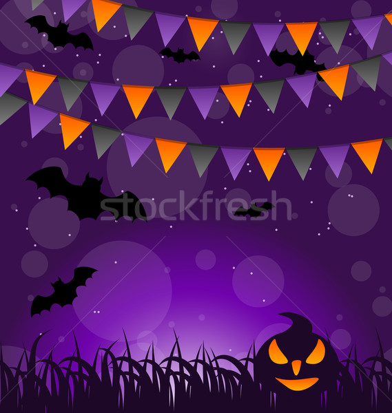 Halloween dovleci agatat steaguri ilustrare abstract Imagine de stoc © smeagorl