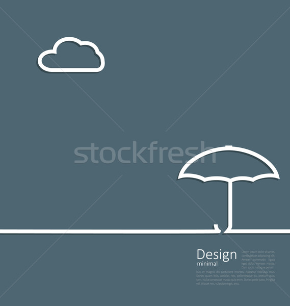 umbrella protection it weather the concept of safety and securit Stock photo © smeagorl