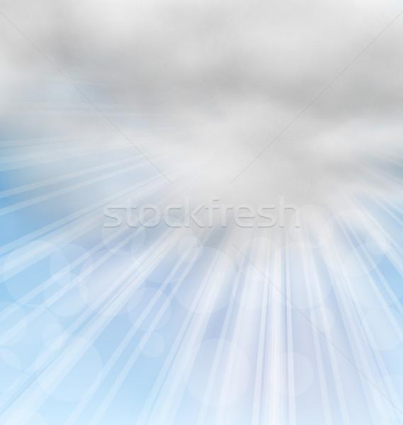 Mattina soffice nubi illustrazione sereno sfondo Foto d'archivio © smeagorl