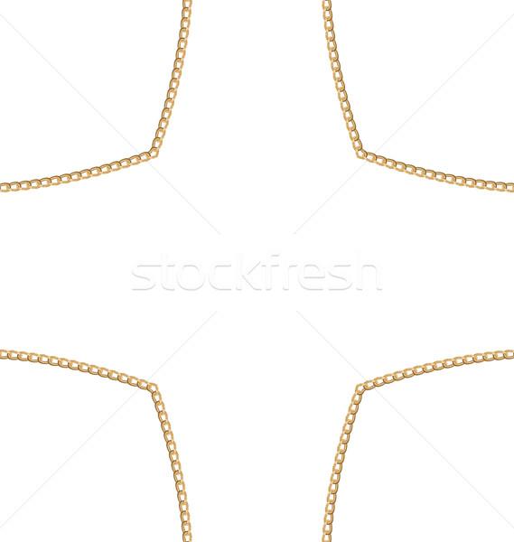 Golden Kette abstrakte Form Illustration Kopie Raum Text Stock foto © smeagorl