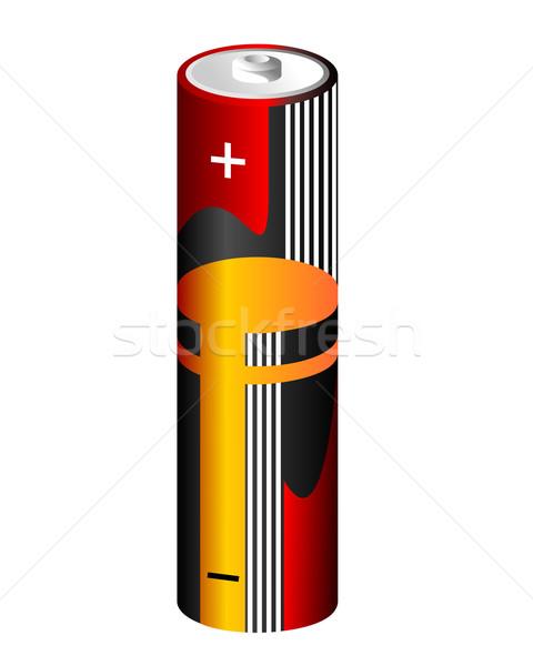Realistic vector illustration battery Stock photo © smeagorl