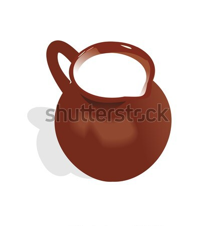 Illustration of jug with milk Stock photo © smeagorl