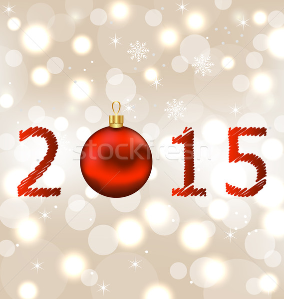 Happy new year shimmering background Stock photo © smeagorl