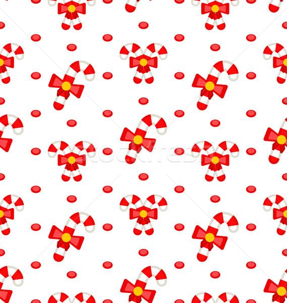 Karmel ilustracja christmas tekstury czerwony Zdjęcia stock © smeagorl