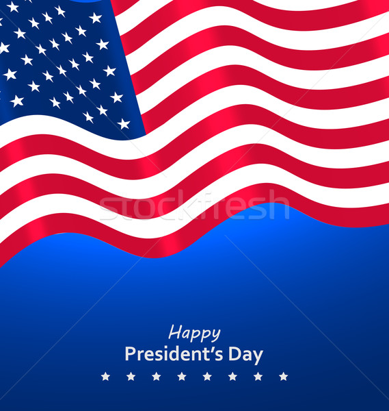Flag USA Waving Wind for Happy Presidents Day Stock photo © smeagorl