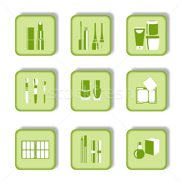Cosmetic icons Stock photo © smeagorl