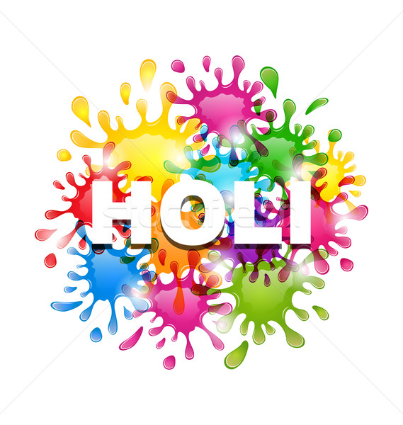 Colorful Background with Blots for Indian Festival Holi Celebrat Stock photo © smeagorl