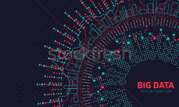 Abstract 3D Big Data Visualization. Futuristic Infographics Design Stock photo © smeagorl