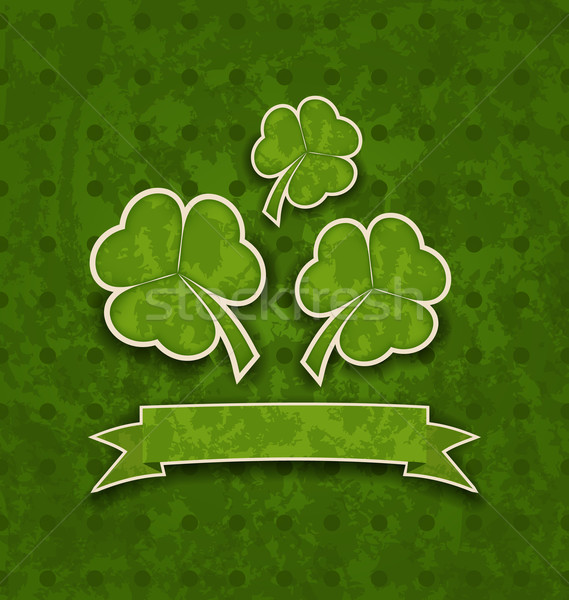 Holiday background with clovers for St. Patrick's Day Stock photo © smeagorl