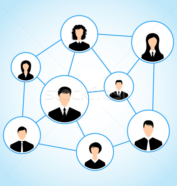 Group of business people, social relationship Stock photo © smeagorl