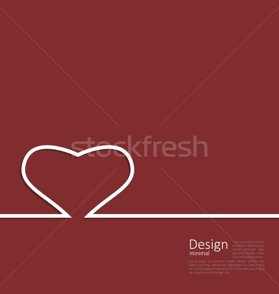 Serca minimalny stylu projektu karty walentynki Zdjęcia stock © smeagorl