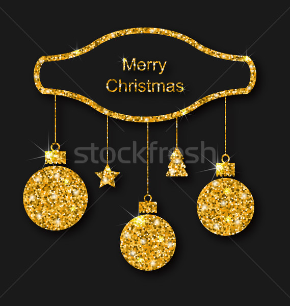 Merry Christmas Beautiful Card Stock photo © smeagorl
