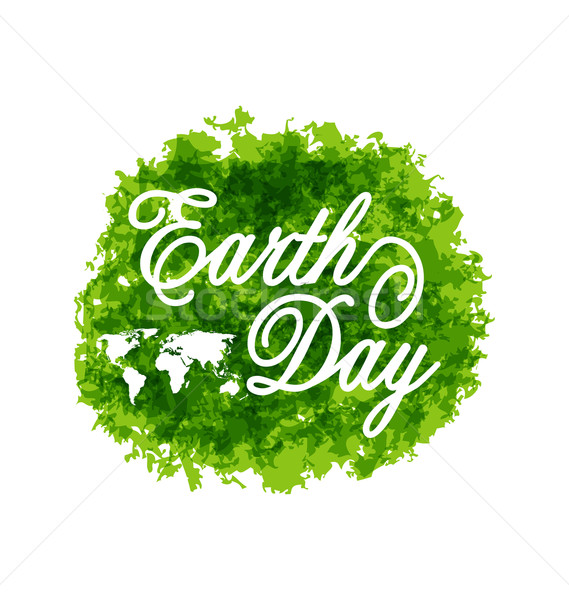 Abstract Background for Earth Day Lettering, Green Grunge Texture Stock photo © smeagorl