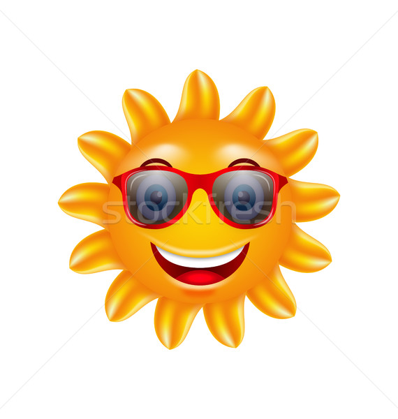 Funny Face of Summer Sun with Sunglasses Stock photo © smeagorl