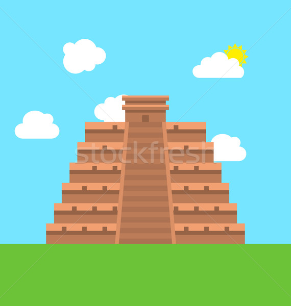 Mexico Chichen Itza Tulum Kukulcan Pyramid Stock photo © smeagorl