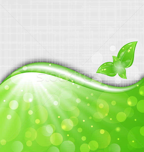 Eco friendly background with leaves Stock photo © smeagorl