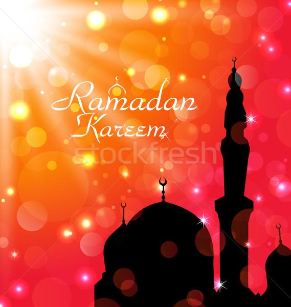 Celebration card for Ramadan Kareem Stock photo © smeagorl