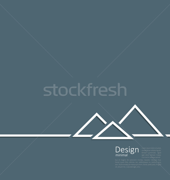 Logo of egyptian pyramid, symbol of tourism, minimal flat style  Stock photo © smeagorl