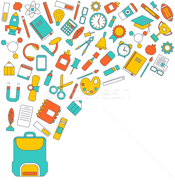 Background for Back to School Stock photo © smeagorl