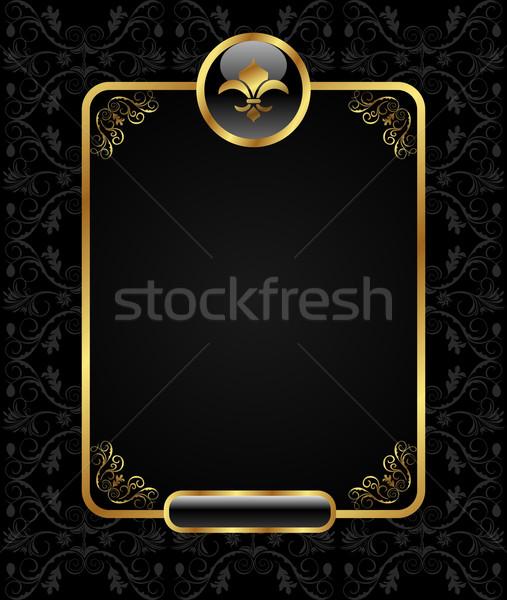 Stock fotó: Királyi · arany · keret · illusztráció · textúra · bor