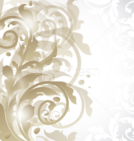 Christmas card or invitation with abstract floral elements Stock photo © smeagorl