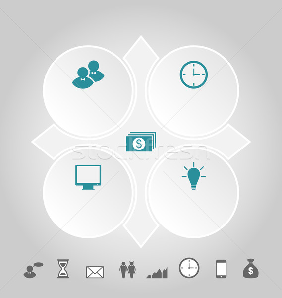 Modern design circles with info graphic icons Stock photo © smeagorl
