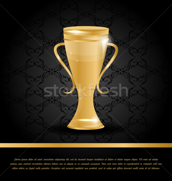 Golden Championship Cup Stock photo © smeagorl