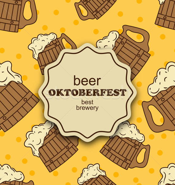 Greeting Card for Oktoberfest Party Stock photo © smeagorl