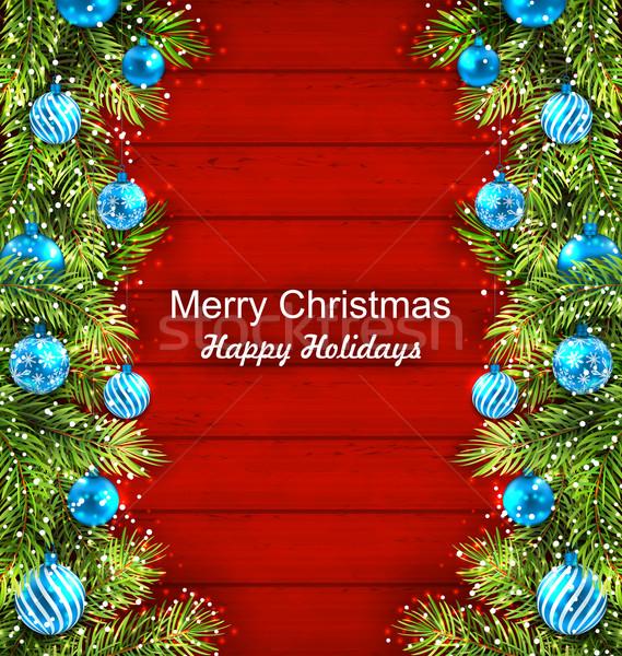 Рождества ель стекла иллюстрация Сток-фото © smeagorl
