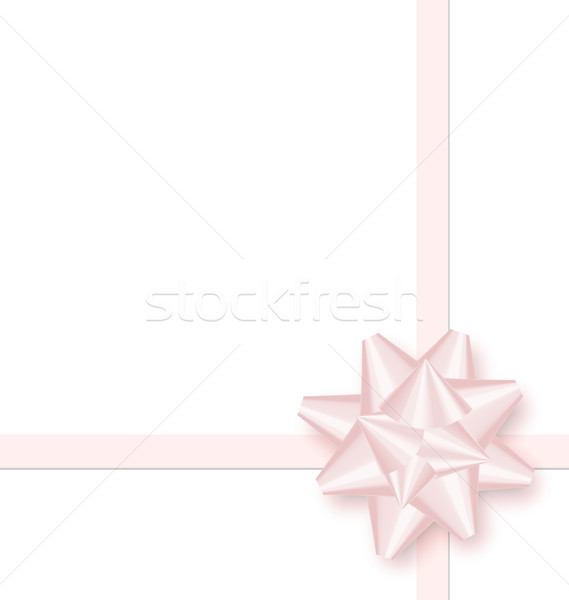Pink bow cross ribbon isolated on white Stock photo © smeagorl