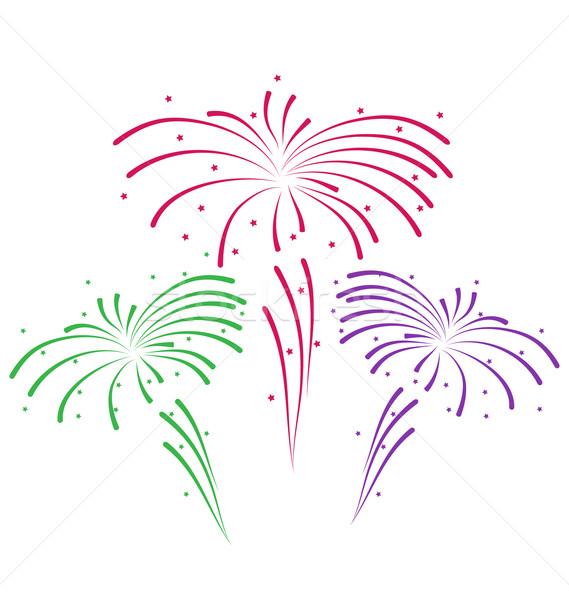 Sketch for abstract colorful firework Stock photo © smeagorl