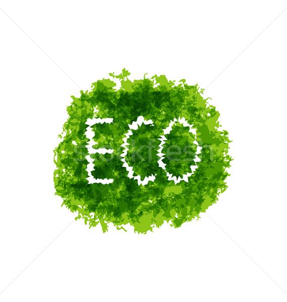 Stok fotoğraf: çevre · dostu · sözler · yeşil · grunge · örnek · soyut