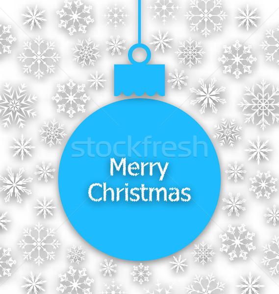 Navidad papel insólito tarjeta de felicitación ilustración diseno Foto stock © smeagorl