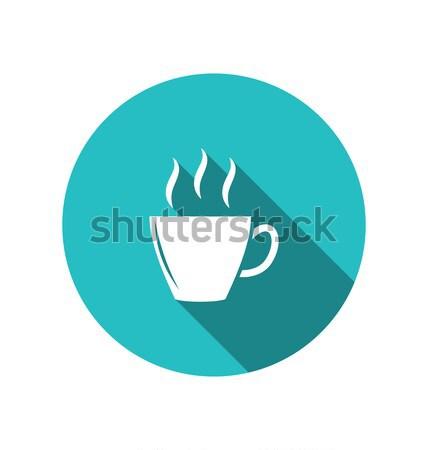 Coffee or tea cup, trendy flat minimal style Stock photo © smeagorl