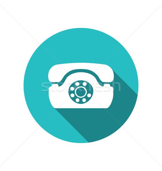 Web simgesi Retro telefon moda en az stil Stok fotoğraf © smeagorl