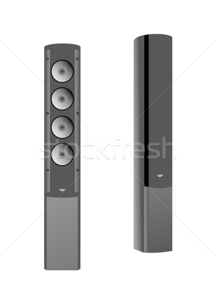 Realistic illustration of musical columns isolated Stock photo © smeagorl