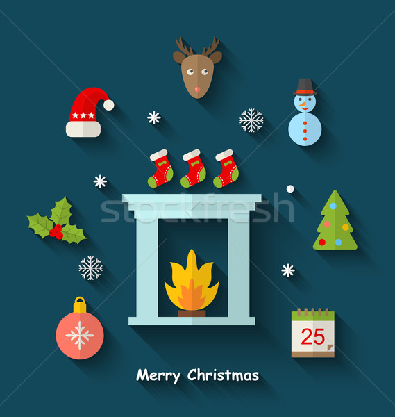 Christmas Minimal Objects and Elements Stock photo © smeagorl