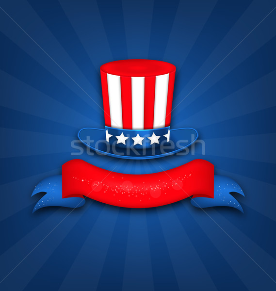 Abstract Background with Uncle Sam's Hat Stock photo © smeagorl