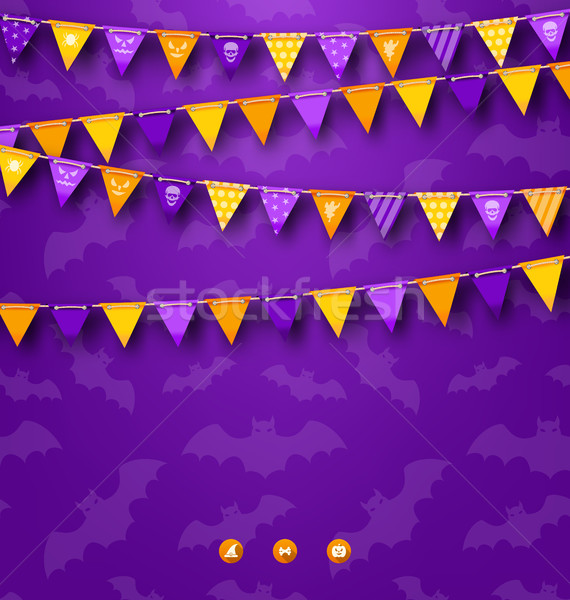 Halloween Party Background with Bunting Stock photo © smeagorl