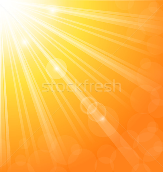 Abstract zon licht stralen illustratie hemel Stockfoto © smeagorl