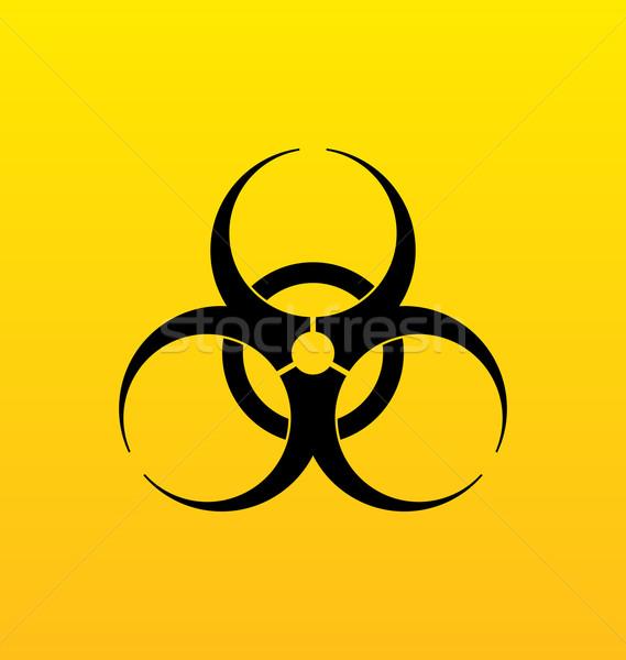 Bio veszély felirat veszély szimbólum figyelmeztetés Stock fotó © smeagorl