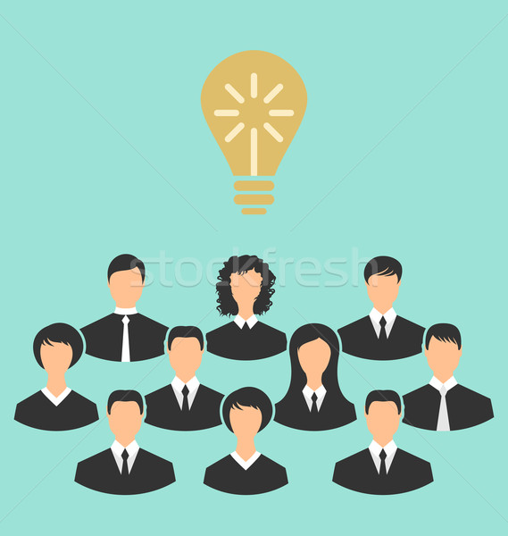 Group of business people gather together, birth of the brilliant Stock photo © smeagorl