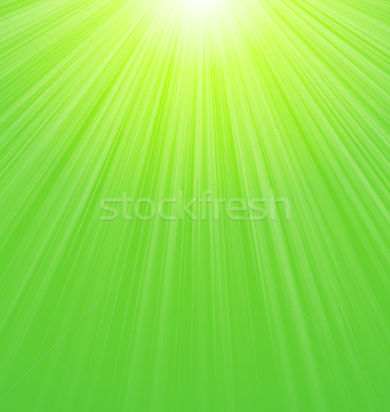 Abstract Green Sunbeam Background Stock photo © smeagorl