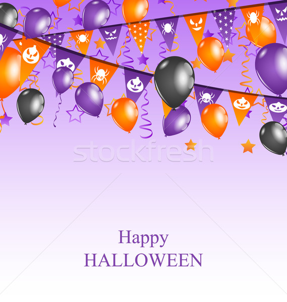 Halloween Background with Hanging Bunting Stock photo © smeagorl
